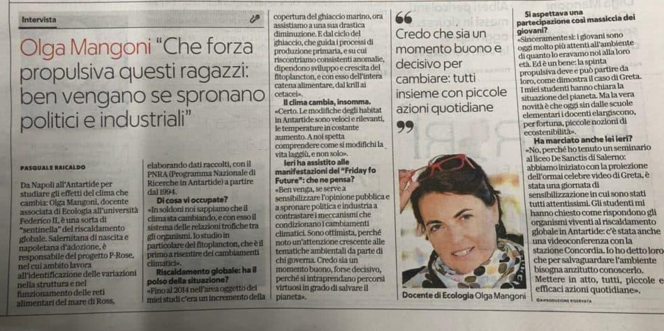 """Olga Mangoni """"Che forza propulsiva questi ragazzi: ben vengano se spronano politici e industriali"""""""